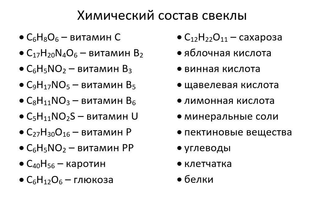 полезные вещества